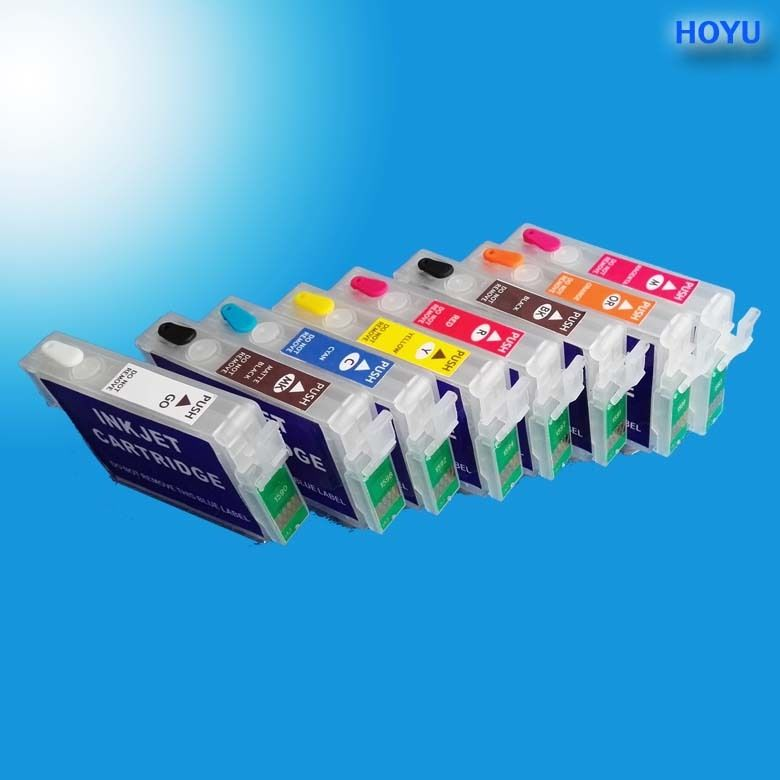 Empty refillable ink cartridge for EP Stylus Photo R2000 printer with ARC
