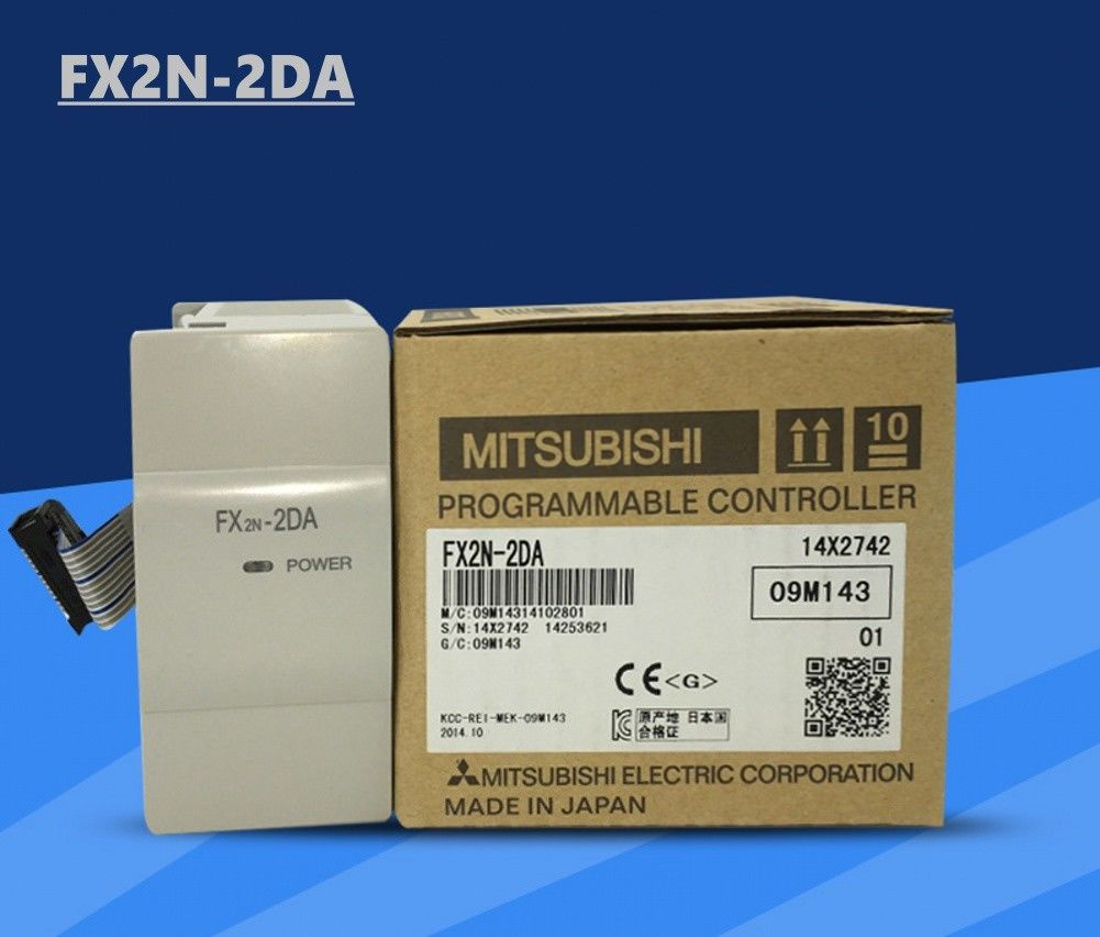 100% New MITSUBISHI PLC FX2N-2DA In Box FX2N2DA