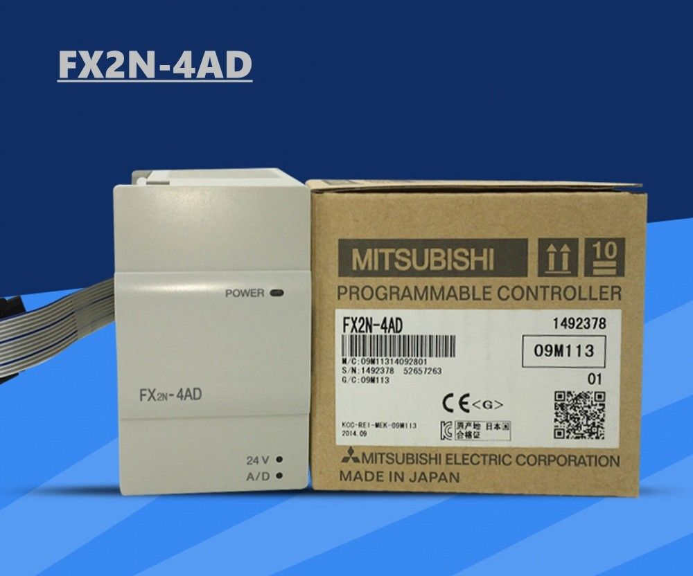 100% New MITSUBISHI PLC FX2N-4AD In Box FX2N4AD