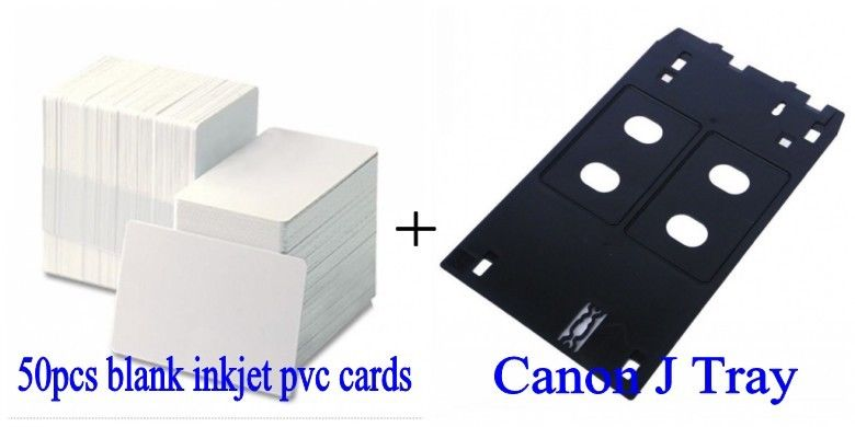 Inkjet PVC ID Card J Tray for Canon MG5450 MG6350 MG7150 iP7250 iP7250 MX925