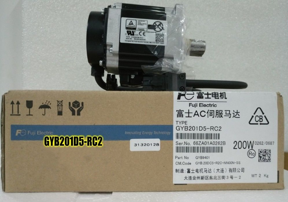 NEW FUJI ELECTRIC AC SERVO MOTOR GYB201D5-RC2 GYB201D5 RC2 IN BOX