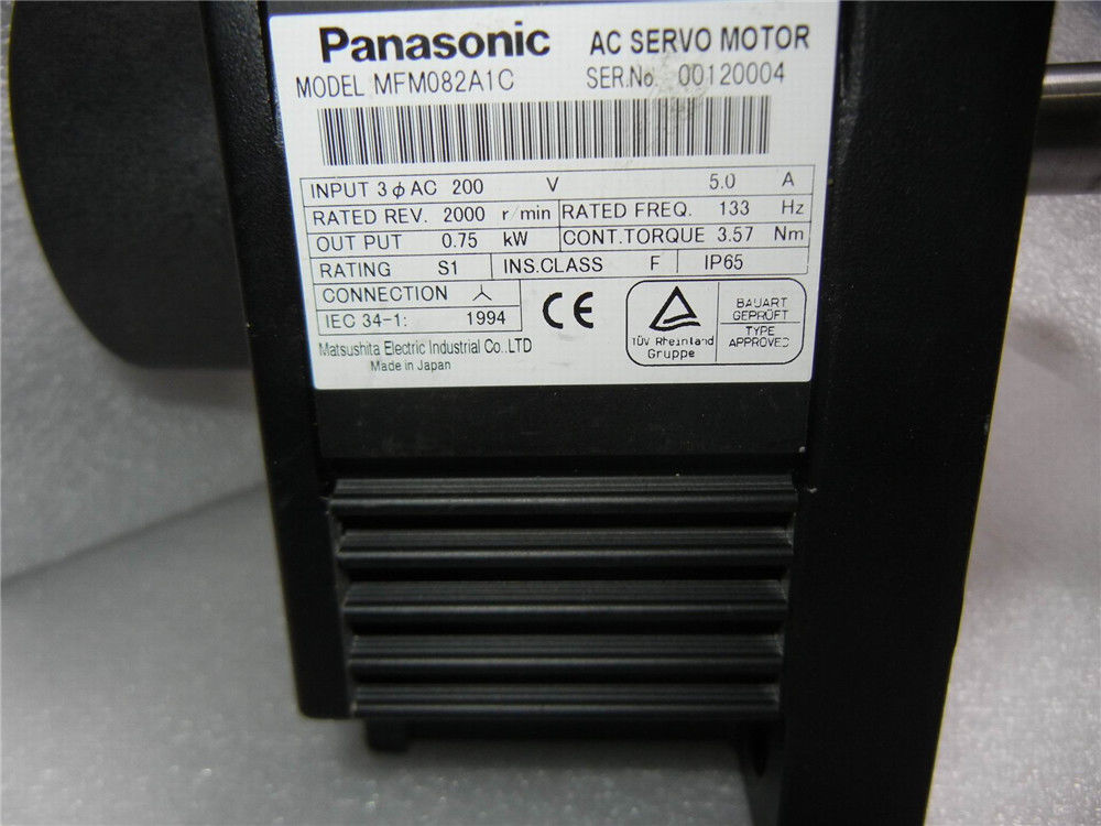90% NEW Panasonic AC servo motor MFM082A1C in box