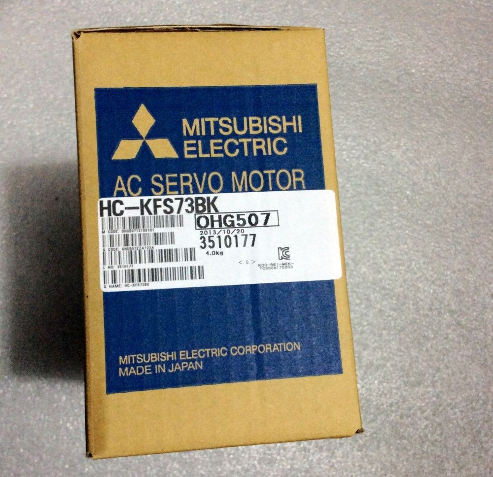 100% NEW Mitsubishi SERVO MOTOR HC-KFS73BK HCKFS73BK IN STOCK (BY DHL)