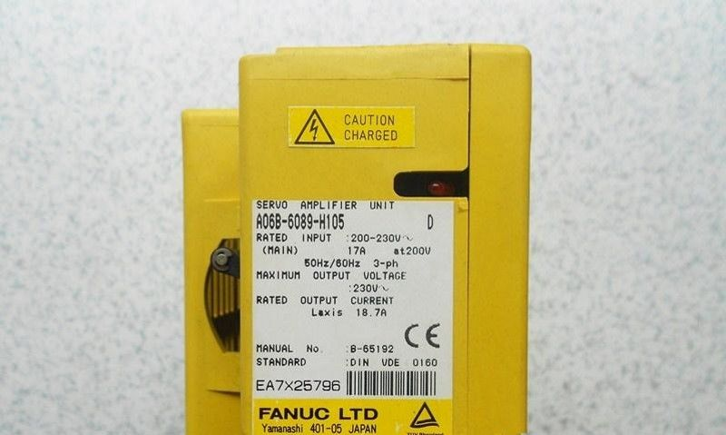 USED 100% TESTED A06B-6089-H105 FANUC A06B-6089-H105 SERVO AMPLIFIER UNIT