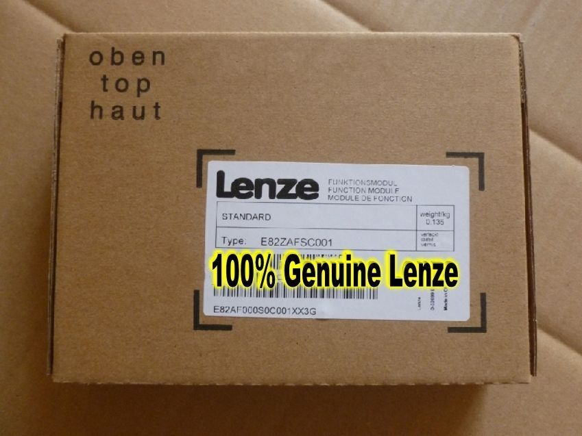 Genuine LENZE STANDART I/O FUNCTION MODULE E82ZAFSC001 in new box