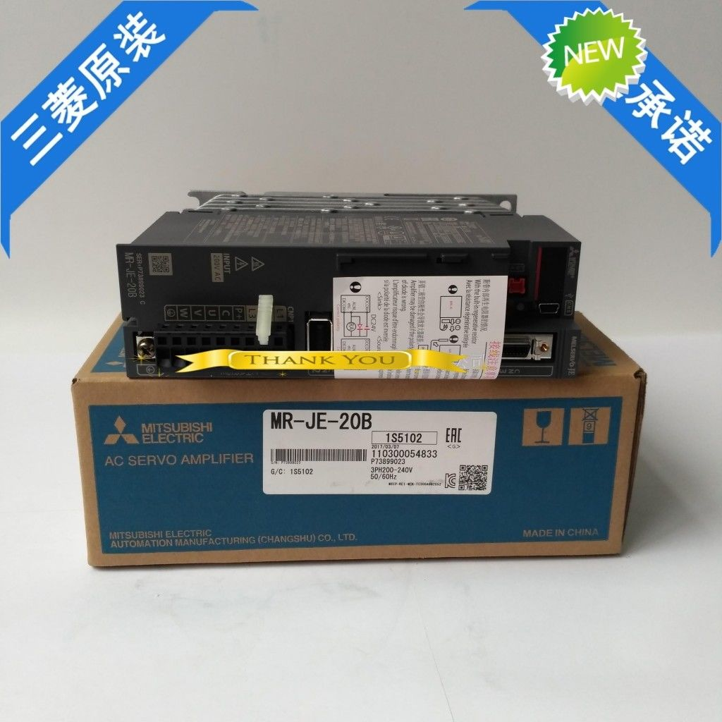 100% New Mitsubishi Servo Drive MR-JE-20B In Box MRJE20B