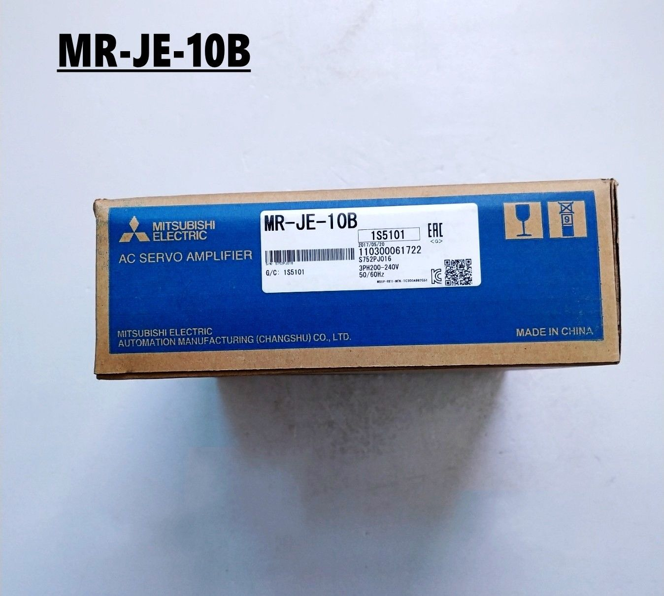 100% New Mitsubishi Servo Drive MR-JE-10B In Box MRJE10B