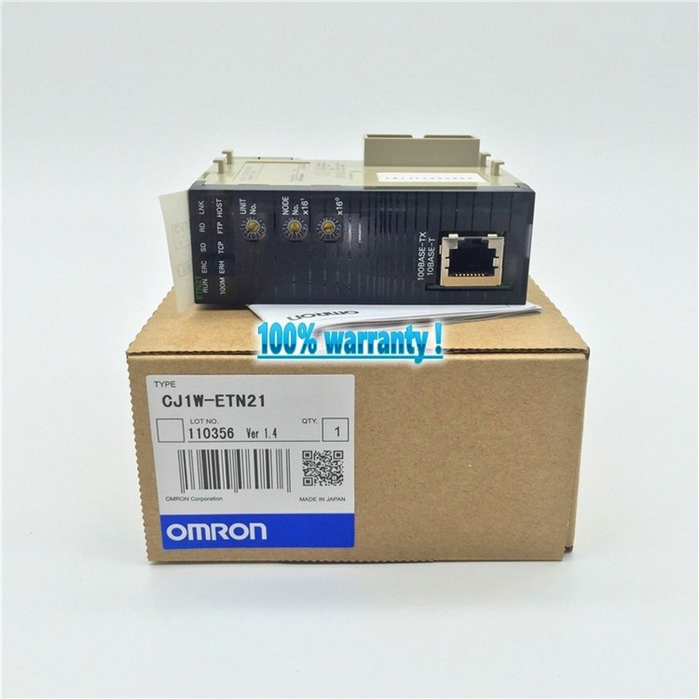 100% NEW OMRON PLC CJ1W-ETN21 IN BOX CJ1WETN21
